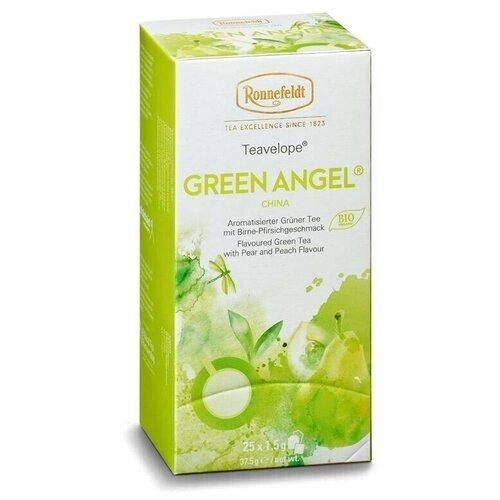 Чай ароматизированный зеленый Ronnefeldt Teavelope Green Angel(Зеленый ангел) 2 пачки по 25 пакетиков. Арт.16030-2. чай зеленый ronnefeldt teavelope classic green в пакетиках 25 шт