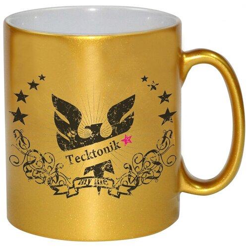 Золотая кружка Tecktonik со звездами