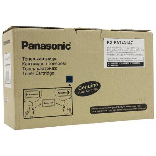 Фото - Тонер-картридж Panasonic KX-FAT431A7D чер. для KX-MB2230/2270/2510(2шт/уп) тонер картридж easyprint lp 431 для panasonic kx mb2230 2270 2510 2540 2571 6000 стр