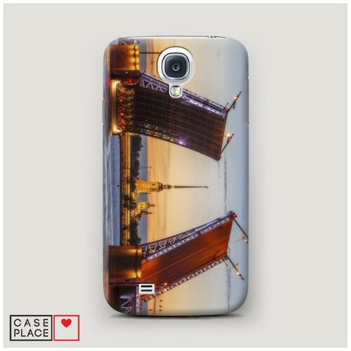 Чехол Пластиковый Samsung Galaxy S4 Разведенные мосты в СПб 1