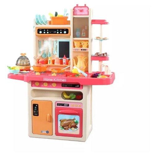 Кухня детская модульная 65 предметов 93,5 см с посудой и продуктами со звуком светом и паром большой набор кухня с посудой и продуктами 55 предметов со светом звуком и водой 82см