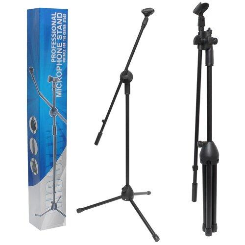 Фото - Стойка для микрофона, Микрофонная стойка напольная Boom Mic Stand до 2м, профессиональная стойка для микрофина напольная стойка под планшет itech mount showpad7