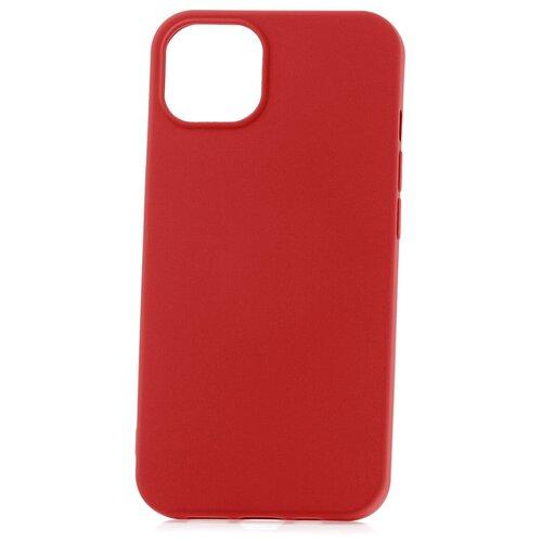 Чехол для Apple iPhone 13 Derbi Slim Silicone-3 красный / чехол на айфон / противоударный чехол на айфон / однотонный чехол / чехол с защитой углов / чехол для Эпл Айфон / бампер на айфон / защитный чехол для iPhone / бампер для iPhone / софт тач чехол / бархатный чехол на айфон / чехол с высоким бортиком для iPhone / чехол с защитой камеры на айфон / силиконовый чехол / пластиковый бампер / защита для айфон 13 / iphone 13