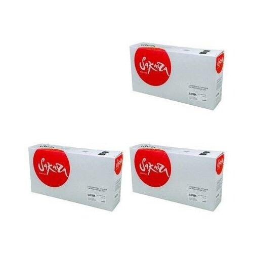 Sakura SAC4129X-3PK Картриджи комплектом C4129X черный 3 упаковки, совместимый, повышенной емкости (High Yield) [выгода 3%] Black 30К для LaserJet 5000, 5100, 5100DTN, 5100tn