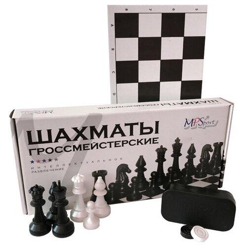 настольная игра шахматы гроссмейстерские с доской 43 21см ин 8976 Настольная игра MPSport шахматы гроссмейстерские пластиковые в коробке. Шашки.