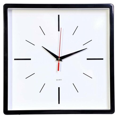 Часы настенные аналоговые Бюрократ WallC-S61P, диаметр 30 см, черный