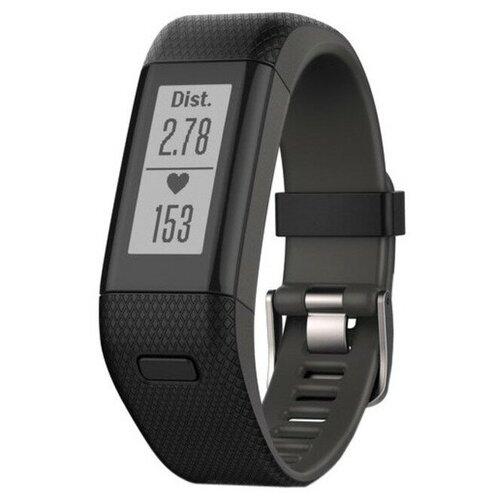 Смарт-часы Garmin Vivosmart 010-01955-36 HR+ Activity Tracker - Heart Rate Monitors - Black