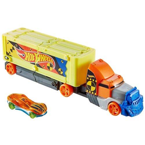 набор игровой mattel hot wheels мертвая петля Hotwheels Mattel Игровой набор Хот Вилс - Фура для столкновений (Hot Wheels Crashing Rig)