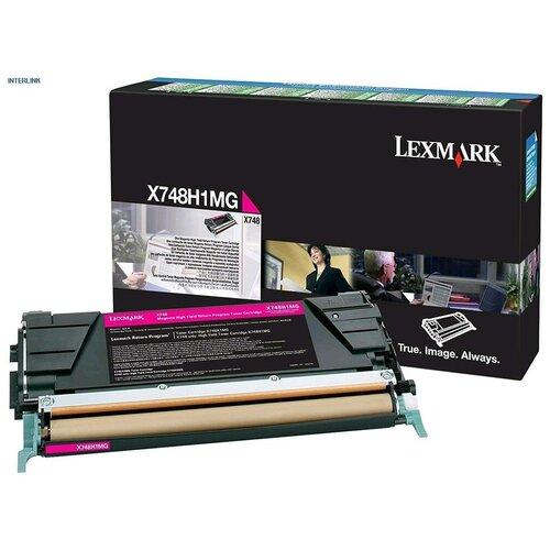 Фото - Lexmark X748H1MG Тонер-картридж оригинальный пурпурный High Yield Return Program (красный) Magenta 10К для X748de X748, X748dte [0X748H1CG] тонер картридж lexmark 76c00m0 пурпурный