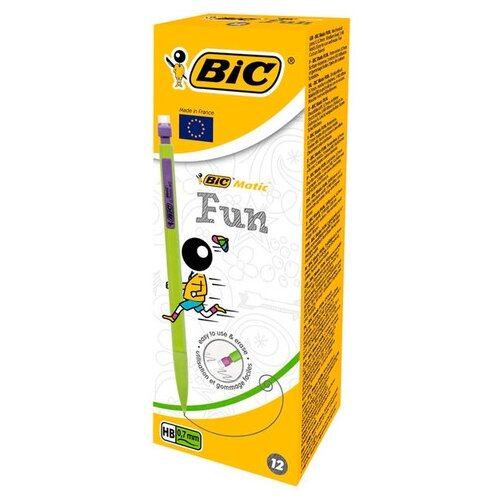 Купить BIC Механический карандаш Matic Fun HВ, 0.7 мм, 12 шт., Механические карандаши и грифели