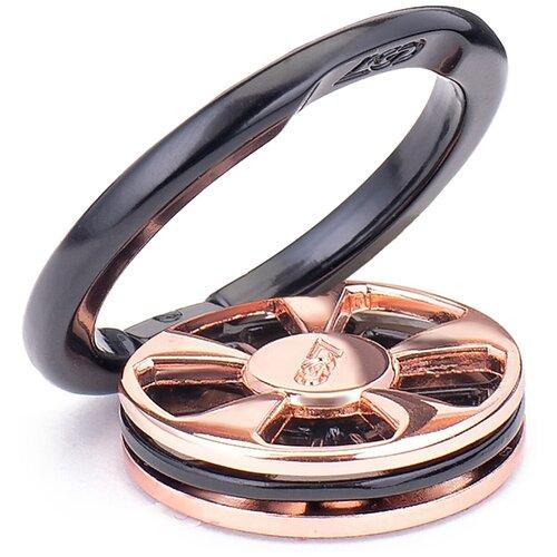 Кольцо держатель для телефона / Спинер / 34 мм Золотисто-черный