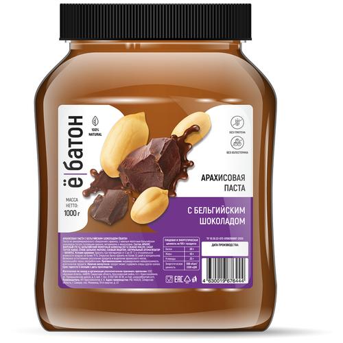 Арахисовая паста С бельгийским шоколадом Ё|Батон
