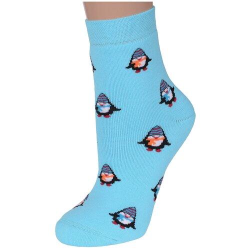 Женские махровые носки Брестские лазурные, размер 25