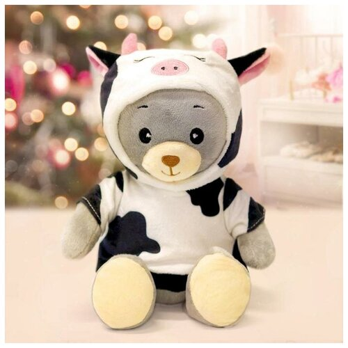 Мишка Лаппи Медведь «мишка лаппи», в костюме коровы, сидит, 22 см