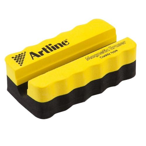 Стиратель магнитный для маркерной доски с держателем для маркера Artline, жёлтый