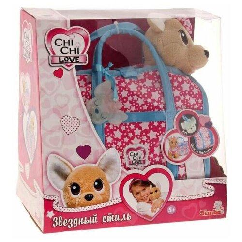 Плюшевая собачка Chi-Chi love Звездный стиль с сумочкой, Simba (мягкая игрушка, 20 см)