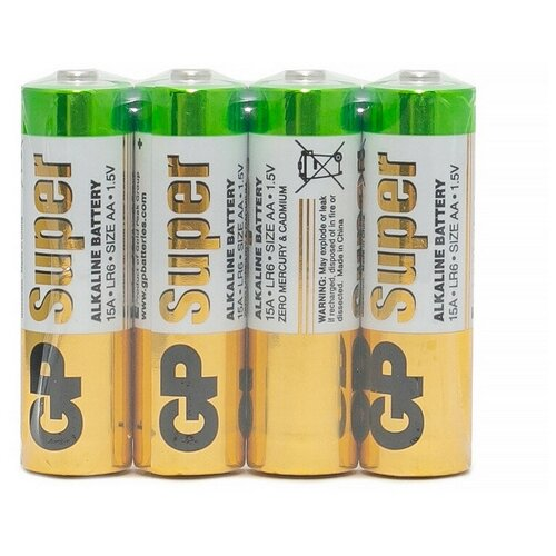 Фото - Батарейки GP Super эконом AA/LR6/15A 4шт/уп GP15ARS-2SB4 3 шт. батарейки lr6 aa щелочные 10 шт