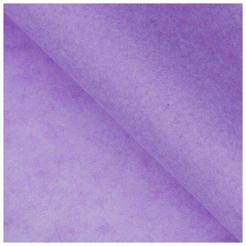 Бумага упаковочная тишью, лавандовый, 50 см х 66 см, набор 10 шт. 7059629