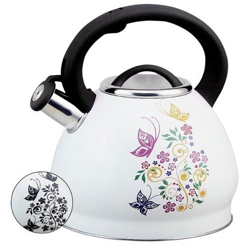 Rainstahl Чайник 7628-30RS\WK 3 л, бабочка rainstahl чайник 7625 30rs wk 3 л стальной черный