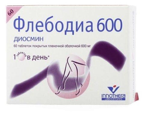 Флебодиа 600 таб. п/о плен. 600мг №60
