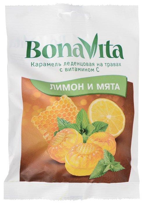Карамель леденцовая Bona Vita Лимон и мята 60 г