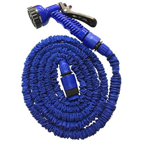 Комплект для полива Зеленый луг саморастягивающийся 3/4 от 5 до 15 метров, с распылителем синий комплект для полива xhose magic hose 45 метров с распылителем зеленый