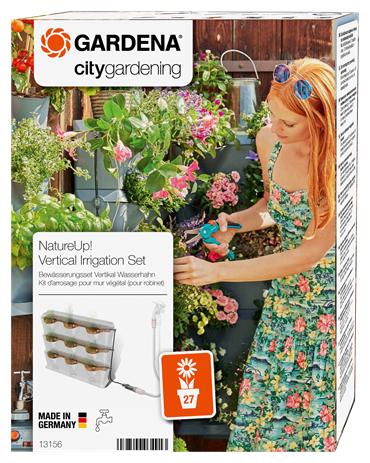GARDENA Набор капельного полива для вертикального садоводства 13156-20, длина шланга:1.5 м, кол-во растений: 9 шт.