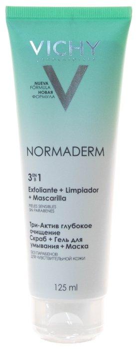 Vichy Normaderm Глубокое очищение 3 в 1 Гель + Скраб + Маска