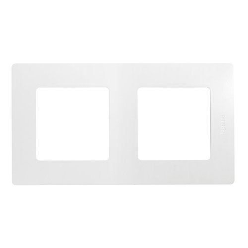 Рамка 2п Legrand Etika 672502, белыйРозетки, выключатели и рамки<br>