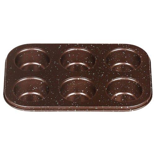 Форма для кексов стальная MOULINvilla ВBWM-006 (18.6х6.7х3 см) коричневый