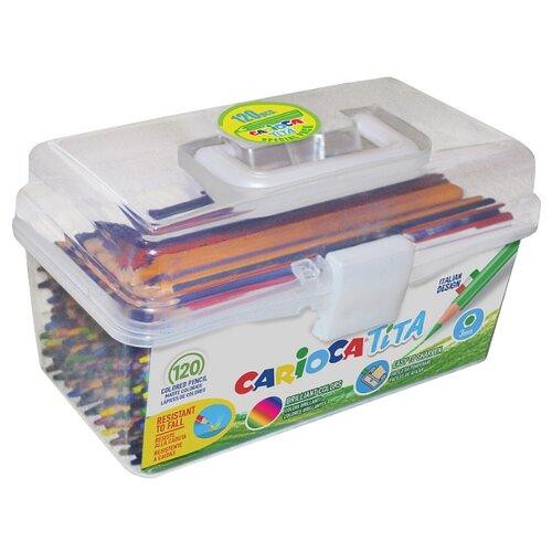 Купить Carioca набор цветных карандашей Tita 120 штук (42800/120), Цветные карандаши
