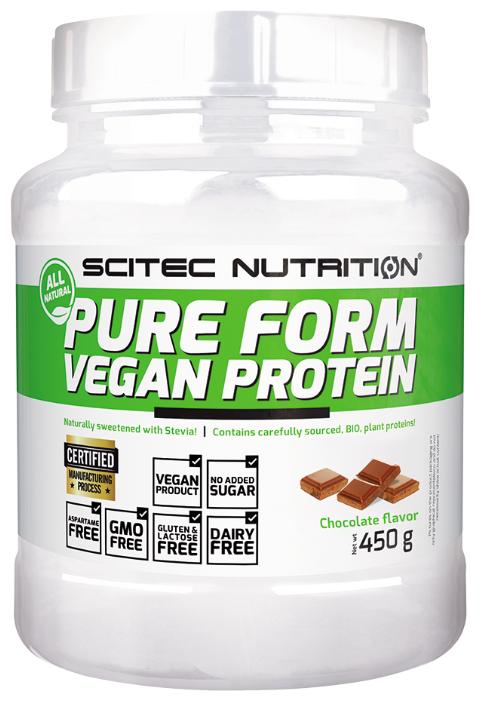 Протеин Scitec Nutrition Pure Form Vegan Protein (450 г) — купить по выгодной цене на Яндекс.Маркете