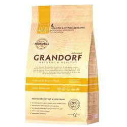 Корм для кошек Grandorf 4 Meat & Brown Rice STERILIZED