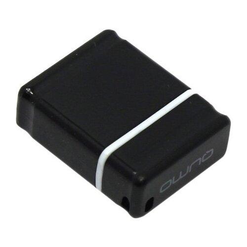 Фото - Флешка Qumo nanoDrive 4 GB, черный флешка qumo ring 3 0 128 gb серебристый
