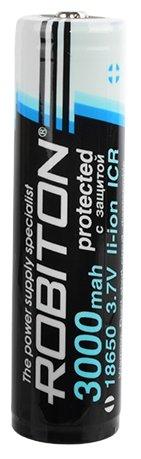 Аккумулятор Li-Ion 3000 мА·ч ROBITON 18650-3000 с защитой