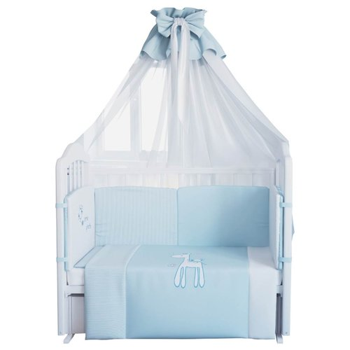 Fairy комплект Жирафик (7 предметов) голубой