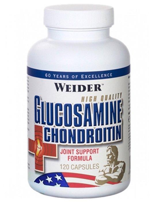Препарат для укрепления связок и суставов Weider Glucosamine + Chondroitin 120 шт.