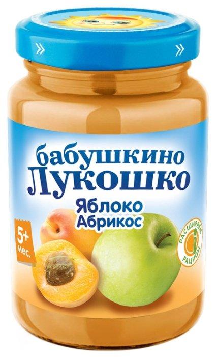 Пюре Бабушкино Лукошко яблоко-абрикос (с 5 месяцев) 200 г, 1 шт