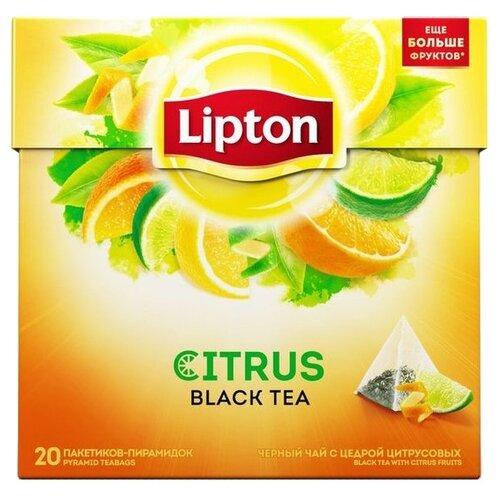 Чай черный Lipton Citrus в пирамидках, 20 шт.Чай<br>