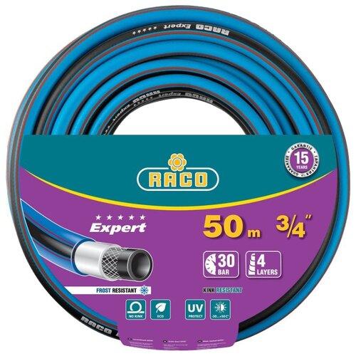 Фото - Шланг RACO Expert 3/4 50 метров 4-х слойный голубой/черный шланг raco expert 1 2x50m 40302 1 2 50