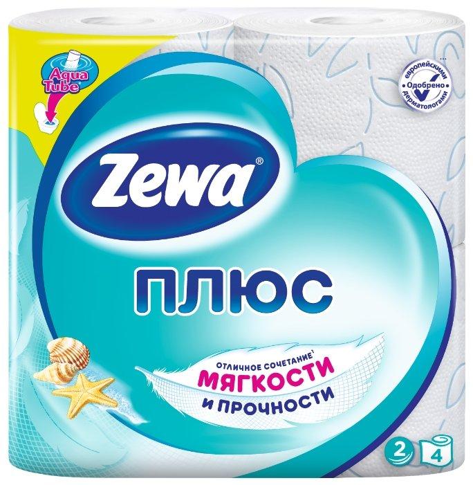 Туалетная бумага Zewa Плюс Свежесть Океана двухслойная, 4 рул.