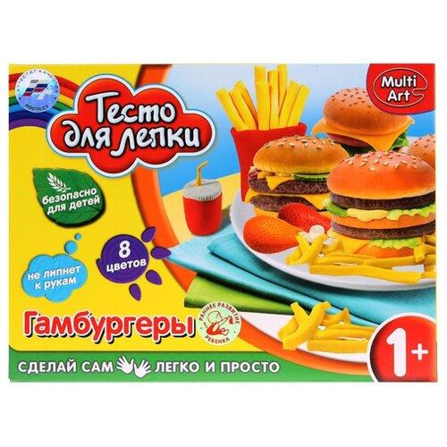 Купить Масса для лепки MultiArt Гамбургеры 5 цветов по 30 г (B1555793-PD (48)), Пластилин и масса для лепки