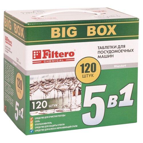 Filtero 5 в 1 таблетки для посудомоечной машины 120 шт.Для посудомоечных машин<br>