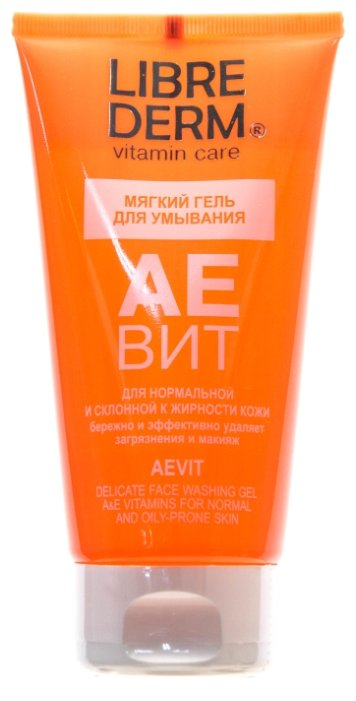 Librederm Aevit Delicate Face Washing Gel - Гель мягкий для умывания, 150 мл