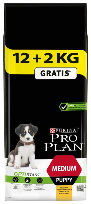 Корм для щенков Purina Pro Plan Optistart курица 14 кг (для средних пород)