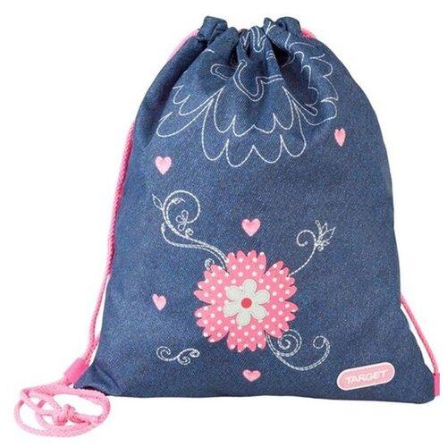 Купить Target Сумка для детской сменной обуви Джинсовые цветы (17956) синий, Мешки для обуви и формы