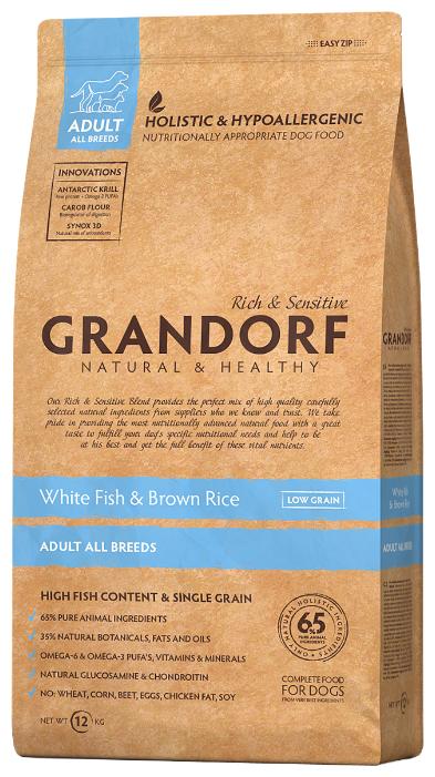 Корм для собак Grandorf Белая рыба с рисом Все породы