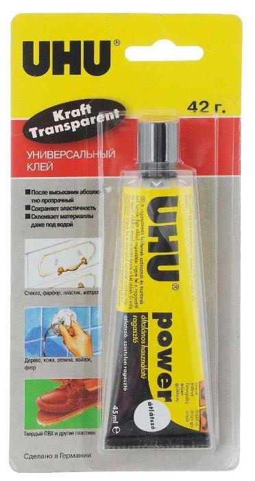 Клей универсальный UHU Kraft Power Transparent 48300/B