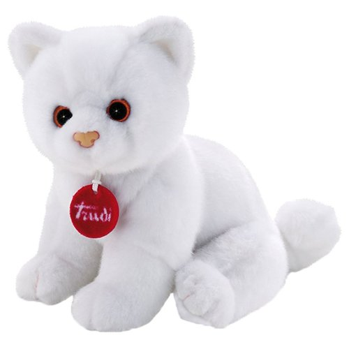 Мягкая игрушка Trudi Котёнок Брэд белый 24 см