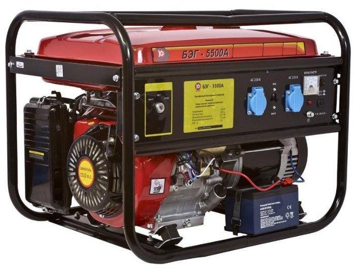 Бензиновый генератор КАЛИБР БЭГ-5500А (5000 Вт)